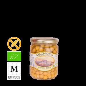 GARBANZO COCIDO ECOLOGICO en envase de 420g.